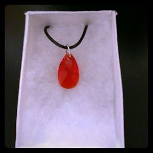 Jewelry - Sunkissed Red Crystal Teardrop Necklace